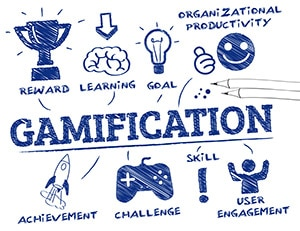 Image showing concepts of gamification like reward, challenge, achievement.