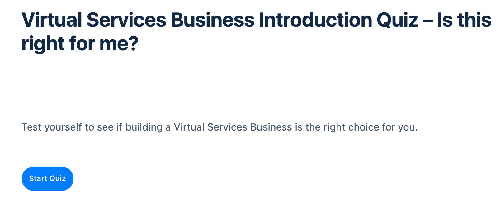 Screengrab of LearnDash Start Quiz button